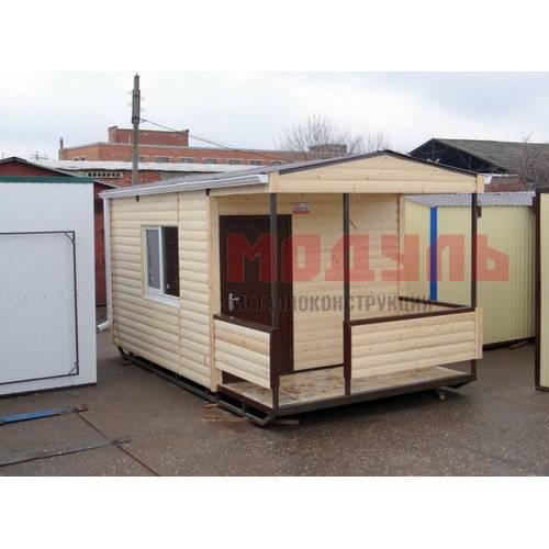 Дачный домик размером 5х3х3 м, утепленный, отделка снаружи из деревянного сайдинга под бревно