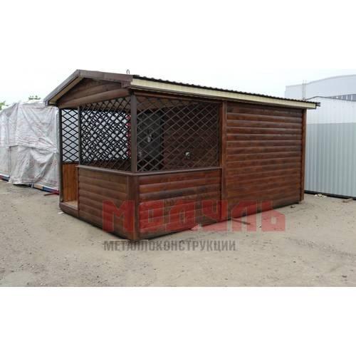 Дачный домик размером 6х3х3 м с верандой
