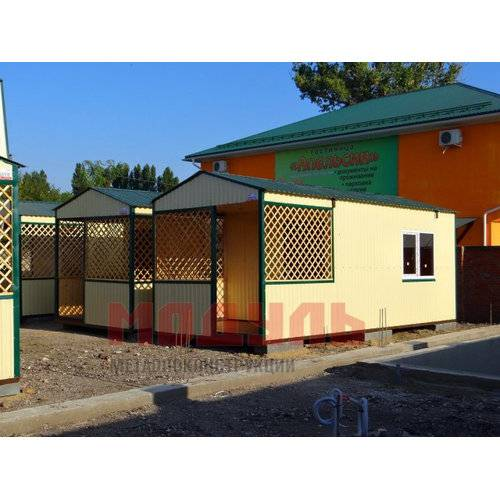 Курортные домики размером 7х3х3 м, утепленные, с санузлом