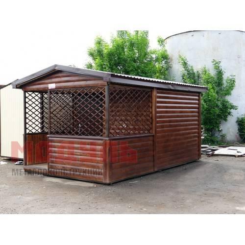 Садовый домик размером 6х3х3 м, утепленный