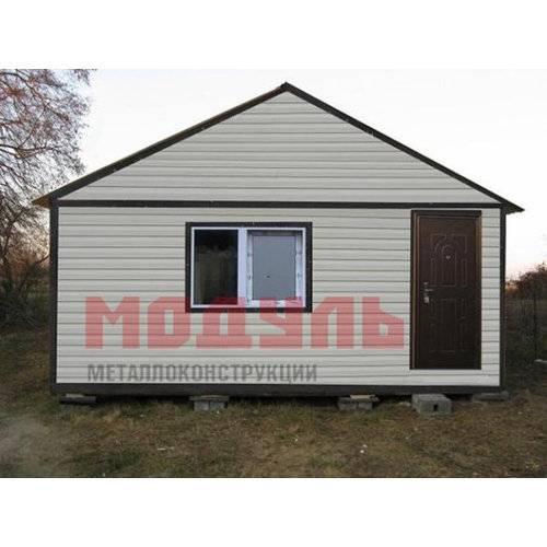 Садовый домик размером 6х5х4,5 м, утепленный, состоит из 2-х комнат, санузла и кухни