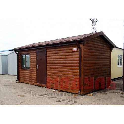 Дачный домик размером 6х3х3,1 м, утепленный, поделен на две комнаты и санузел