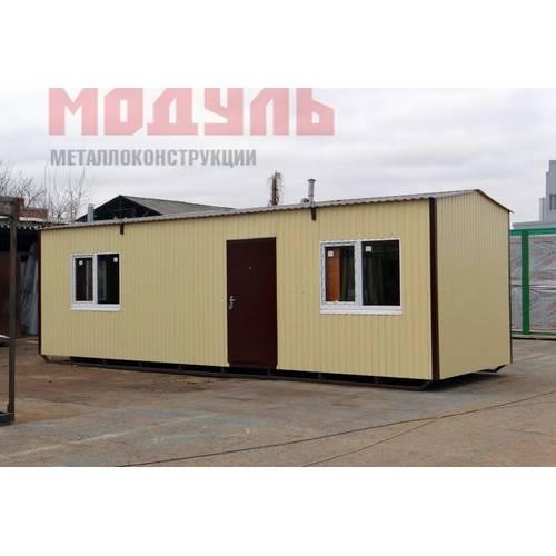 Дачный домик размером 10х3х3м, утепленный поделен на комнату, кухню, прихожую и санузел