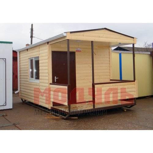 Садовый домик размером 5х3х3 м утепленный, поделен на комнату и веранду