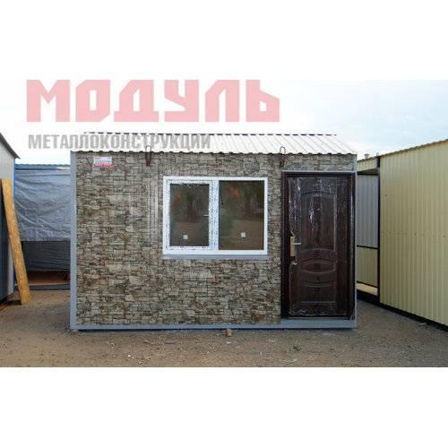 Садовый домик размером 4х2,4х2,7м утепленный