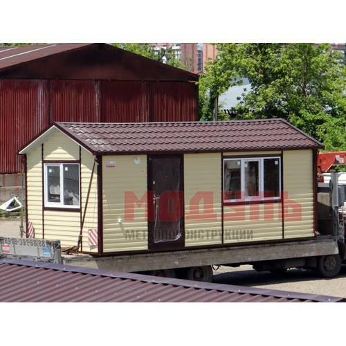 Садовый домик размером 7х3х3 м, утепленный, поделен на две комнаты