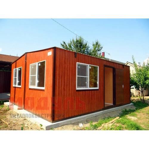 Садовый домик размером 6х5х3 м, утепленный поделен на две комнаты, кухню, прихожую и санузел