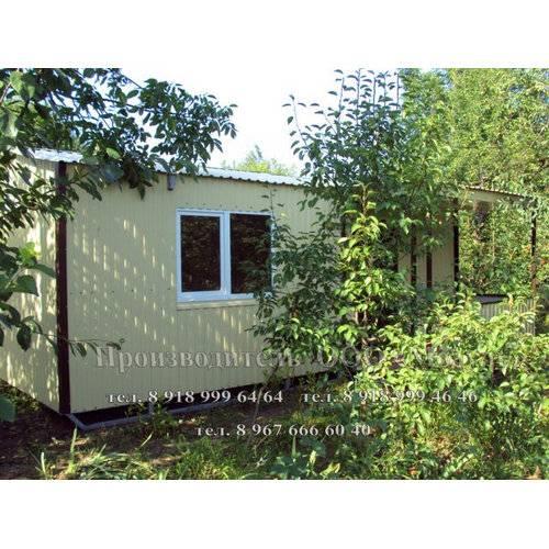 Садовый домик размером 6х3х3 м + веранда 2х2 м