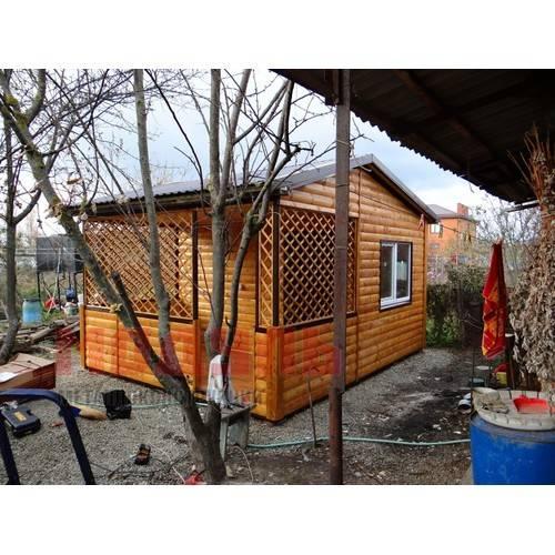 Садовый домик с верандой размер 5х5х4 м, утепленный