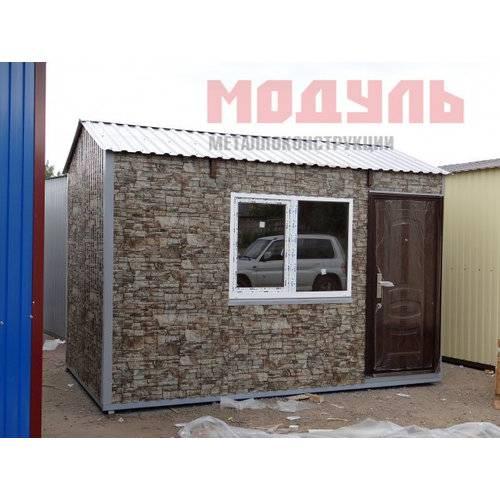 Садовый домик размером 4х2,4х2,7 м, утепленный