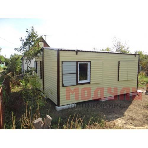 Садовый домик размером 6х5х3 м, утепленный, состоит из 2-х комнат, кухни и санузла