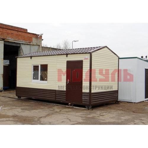 Садовый домик размером 6х3х3 м, утепленный, прихожая и комната