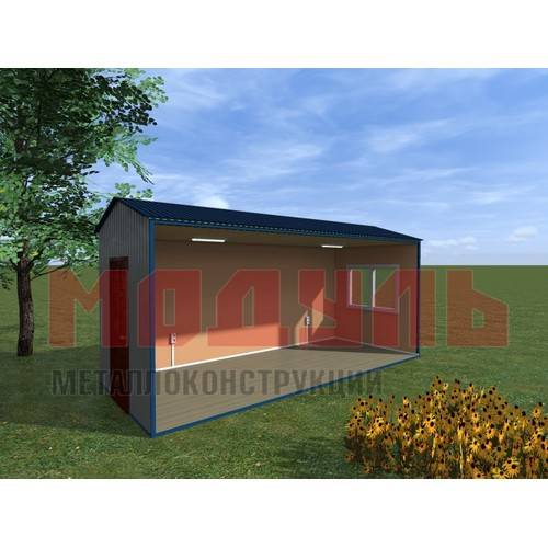 Вагон-бытовка размером 6х2,4х2,7 м, утепленный, состоит из одной комнаты