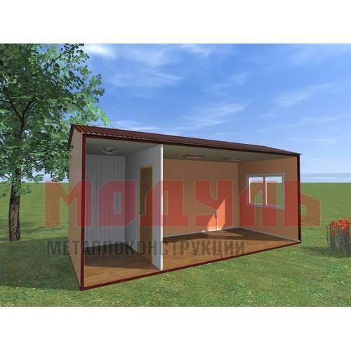 вагон-бытовка размером 6х2,5х2,7 м, утепленная, состоит из 2-х комнат