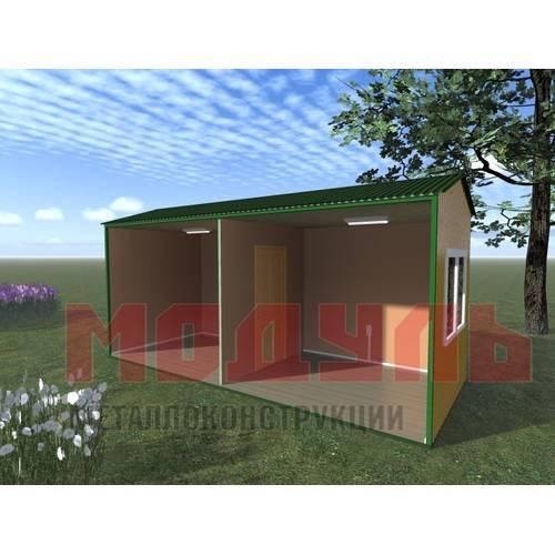 Вагон-бытовка размером 6х2,4х2,7 м, утепленная состоит из 2-х комнат