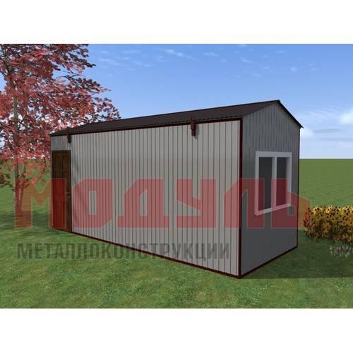 Вагон-бытовка размером 6х2,4х2,7 м, утепленный, состоит из комнаты и прихожей