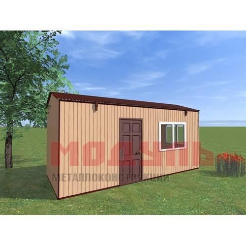 Вагон-бытовка размером 6х2,4х2,7 м, утепленный поделен на две комнаты