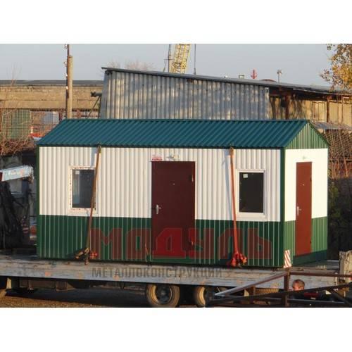 Вагон-бытовка размером 6х3х3 м, состоит из 2-х комнат