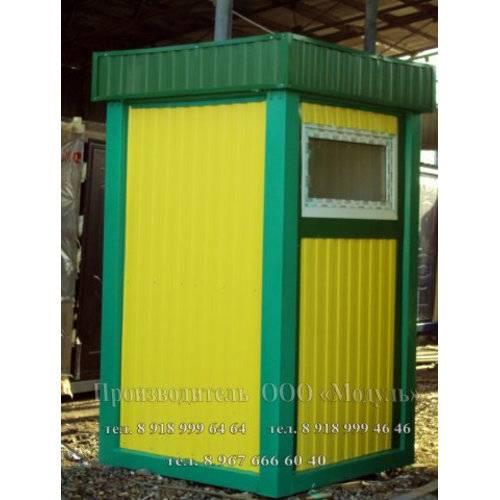 Блок-контейнер размером 1,5х1,5х2,5 м