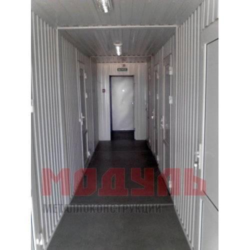 коридор в модульном здании