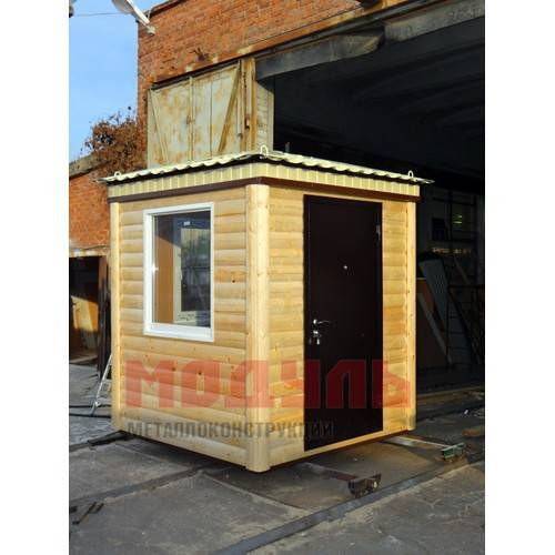 Пост охраны размером 2,5х2,5х2,7м, утепленный, с окнами на две стороны