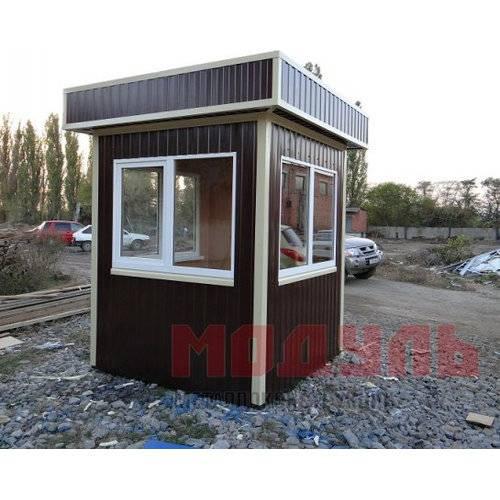 пост охраны размером 2х2х2,7м, утепленный с окнами на три стороны