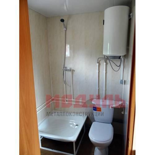 баня мобильная размером 6х2,5х3 м, в полной комплектации