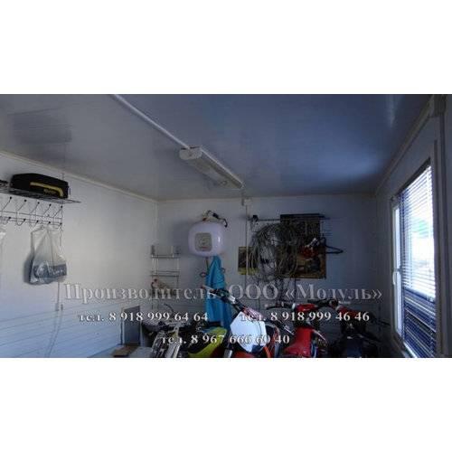 Внутренняя отделка вагона-бытовки под склад