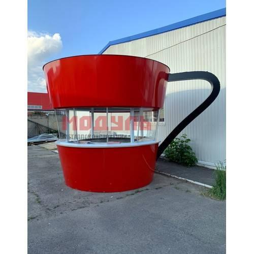 торговый ларек в форме кофейной кружки