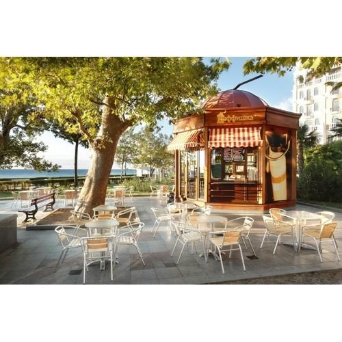 торговый павильон под кафе восьмигранной формы площадью 16 м кв.